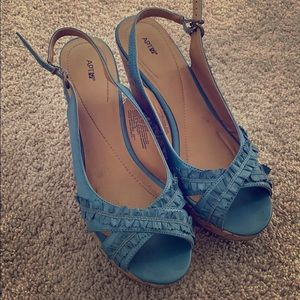Wedge sandals, only worn once!